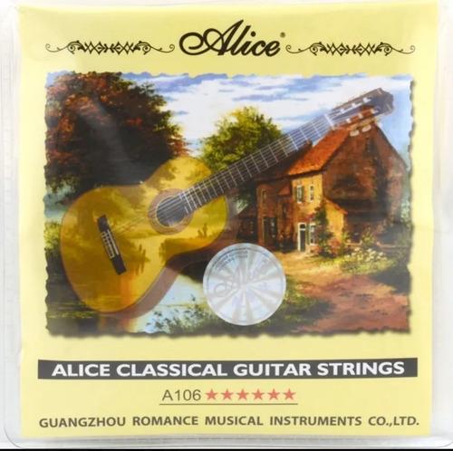 Cuerda De Guitarra Clásica  Acústica De Nylon Alice