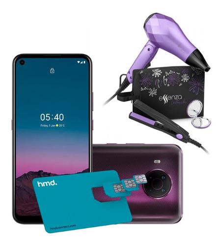 Smartphone Nokia 5.4 Roxo 128gb + Kit Viagem Essenza