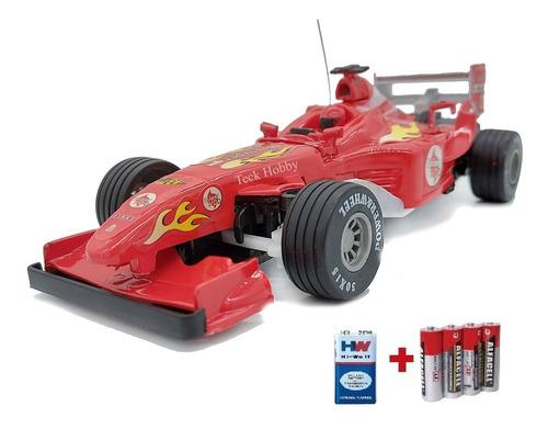 F1 Carro Carrinho Controle Remoto Ferrari  + Brindes