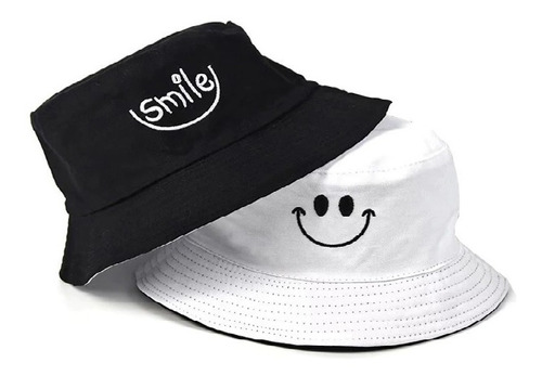 Chapéu Bucket Dupla Face - 2 Lados - Smile - Hat