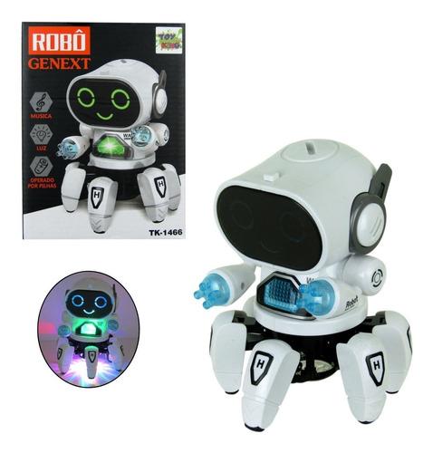 Brinquedo Infantil Robô Dançarino Genext Com Som E Luzes 3d