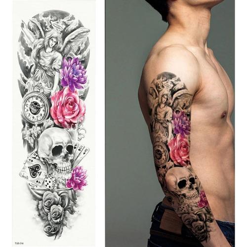 Tatuagem Fake Tattoo Falsa Leão Lion Coroa Do Rei Super Real