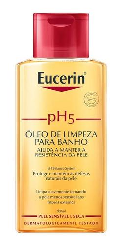 Eucerin Ph5 Óleo De Limpeza Corporal Para Banho 200ml