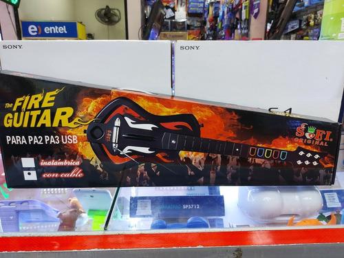 Guitarra Con Cable Para Play Station 3 Ps3 Ps2 Y Pc Nuevo