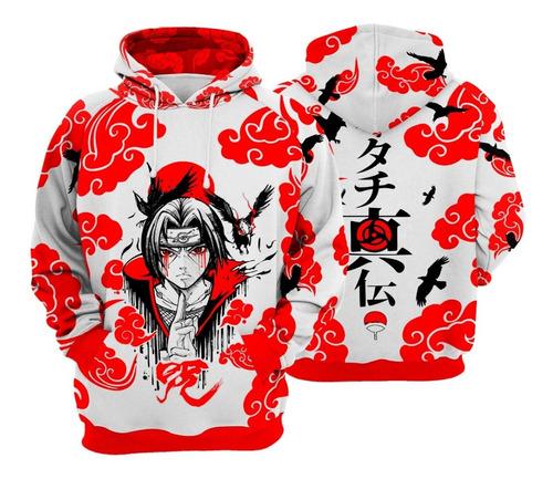 Blusa De Frio Naruto Akatsuki Uchiha  Modelo Canguru