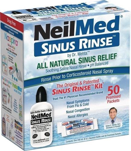 Neilmed Sinus Rinse Kit Completo + 50 Pacotes Pré-misturados