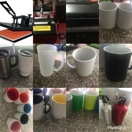Combo De Maquinas De Sublimación + Mug, Impresora.