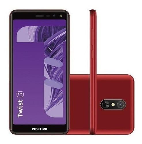 Smartphone Positivo Twist 3 S513 Dual 32gb 1gb Ram Vermelho