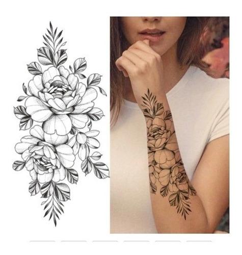 Tatuagem Fake Feminina - Linda Flor - Removível