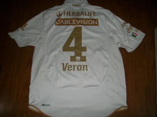 Camisa Pumas Do México 2010/2011 - Veron # 4 Tam Xl