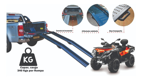 02 Rampas Embarque Quadriciclo Mod: 2000/240 Ac