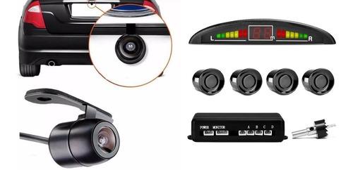 Câmera Ré Borboleta Visão Noturna + Sensor Estacionamento