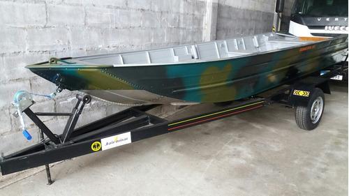 Barco De Aluminio Com Carreta Sem Motor