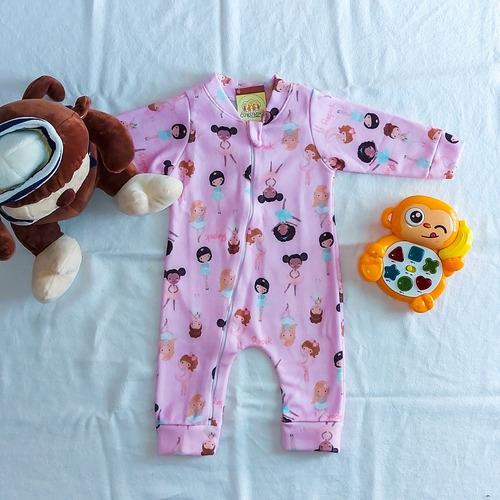 Pijama Zíper Único, Para Bebê, Produzido Por Ropek.