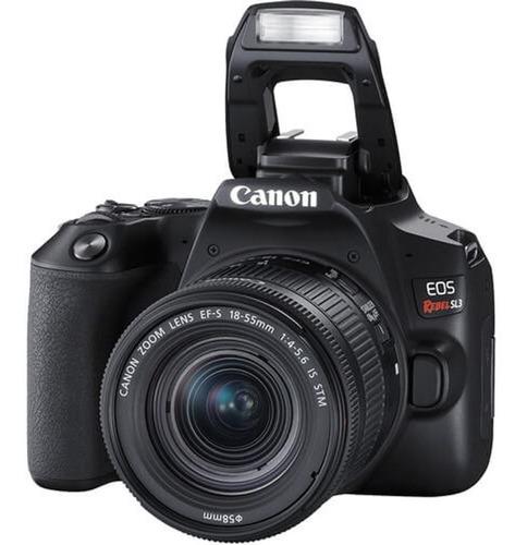 Câmera Canon Eos Rebel Sl3 Lente 18-55mm F4-5.6 Is Stm