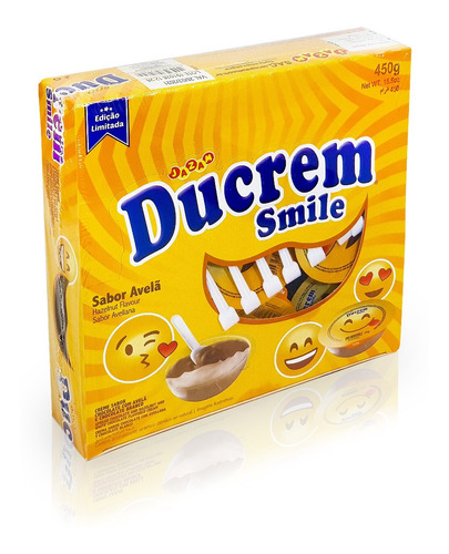 Ducrem Smile Sabor Avellana - 25g X 18u - Big Party Cotillon