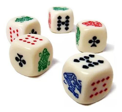 X5 Dados De Poker Importados Cubilete Yahtzee Juego Mesa