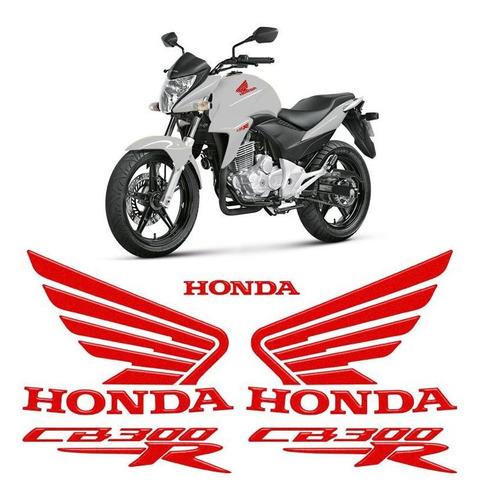 Kit Adesivos Moto Honda Cb 300r Emblemas Resinados Tanque