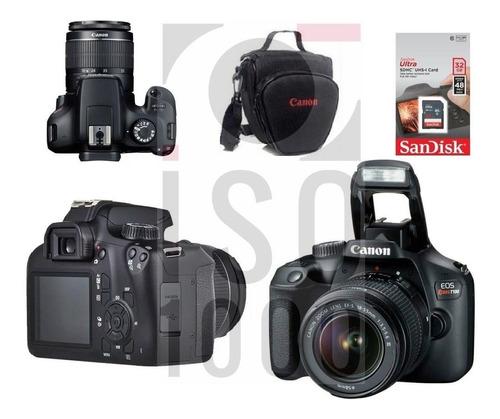 Câmera Canon T100 18 55mm C/ Nf e Sdhc 32g Brindes