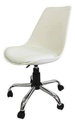 Cadeira Escritório Secretaria Branca Abs Pelegrin Pel-032a