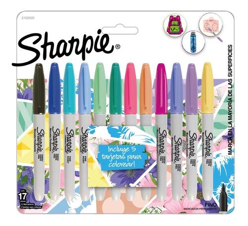 Set De Marcadores Sharpie Colores Pastel X12