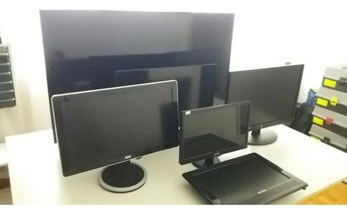 Lote Tv Smart 46 Monitor Lcd Led Game 15,17,19,20,22 Atenção