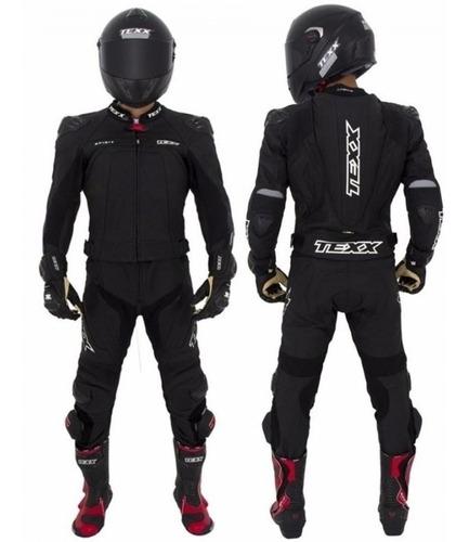 Macacão Motociclista Texx 2 Pecas Spirit Couro Bovino