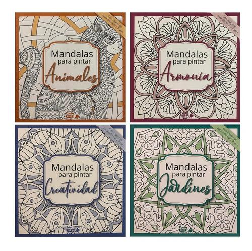 Libro Colorear Adultos :: Mandalas :: Pastel :: Pack 4 Libro