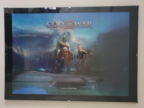 God Of War 4 Ps4 Cuadro Original Playstation 70x50 Xl Oferta