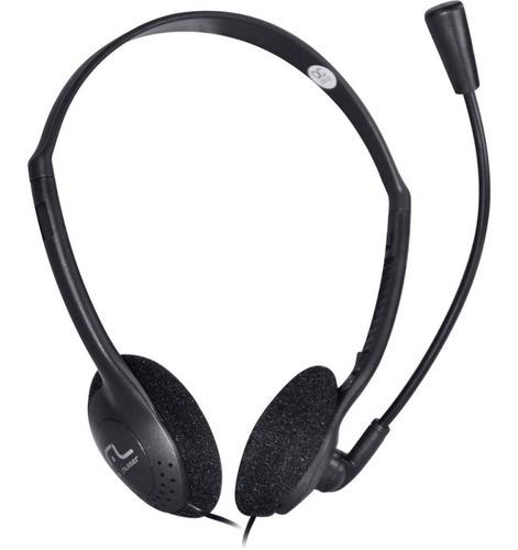 Fone Para Notebook E Pc C/ Microfone Headset P2 Preto- Ph002