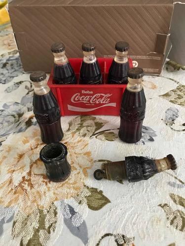 Mini Coca Cola Rara + Isqueiro Década De 50/60