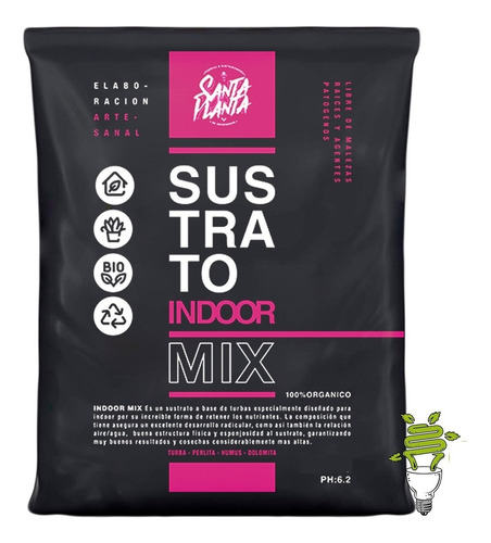 Sustrato Santa Planta Indoor Mix Light 25dm3 Nuevo