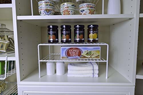 Double Shelf For Closet, Large Nickel Large Double - Ecart