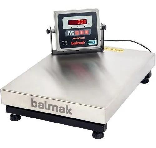 Balança Plataforma Balmak Bk300ib 300kg Inox Bateria Inmetro