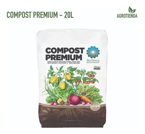Compost Premium 20l - Sustrato Orgánico Bioterra