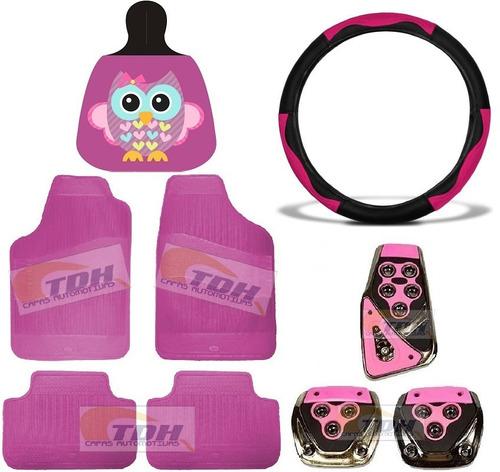 Kit Acessórios De Carro Feminino Rosa Top Lançamento