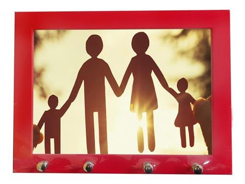 Moldura 15x21 Porta Chaves Foto Ou Mensagem Decorativa