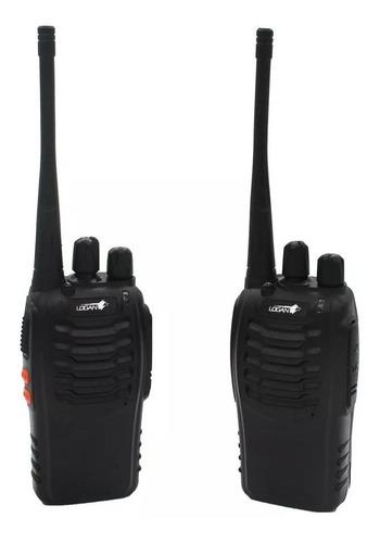 Radio Portatil Transmisor Logan Con Manos Libres El Par