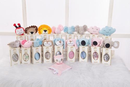 Naninha De Bichinhos Para Bebê Na Caixa Com Porta Chupeta