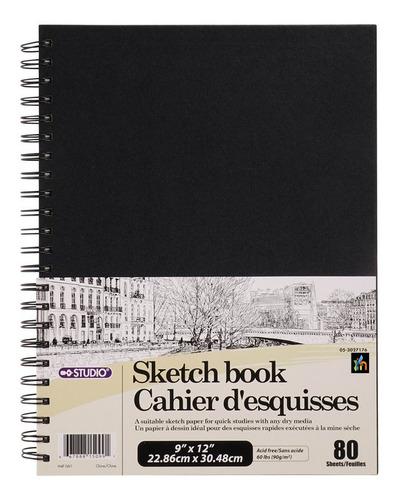 Cuaderno De Bocetos Argollado Doble Libreta De Diseño Arte
