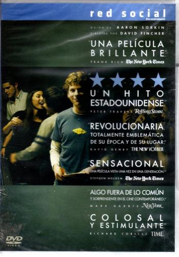 Red Social ( Jesse Eisenberg ) Dvd Original Nuevo Sellado