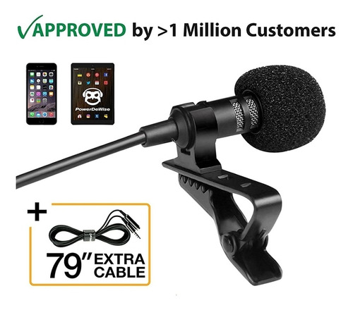 Microfono Powerthewise Omnidireccional De Solapa Lavalier