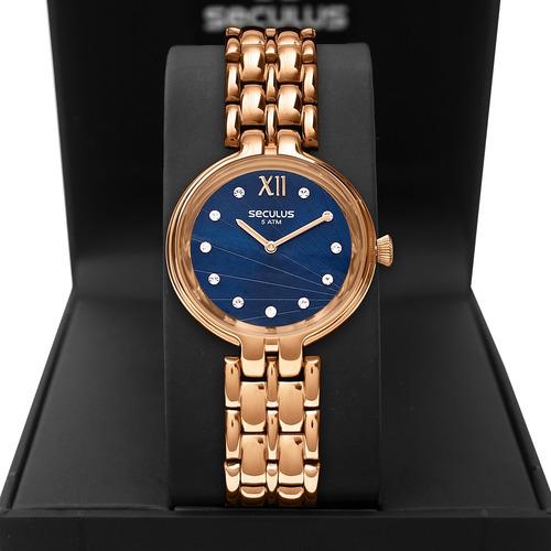 Relógio Feminino Seculus 2 Anos De Garantia 13022lpsvrs3