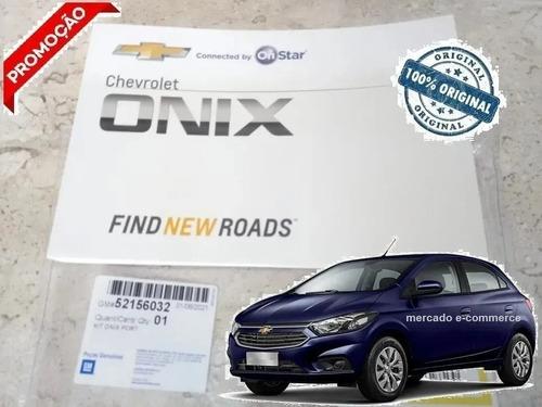 Manual Proprietário Novo Branco Onix 2017 2018 2019 Original