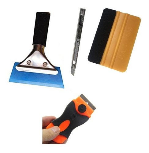 Kit De Espatula Polarizado 4 Piezas Cutter Scraper Bluemax