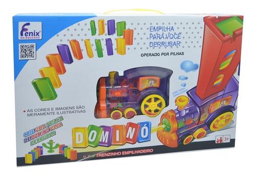 Trenzinho Empilhadeiro Fenix Brinquedos 2006 Dominó