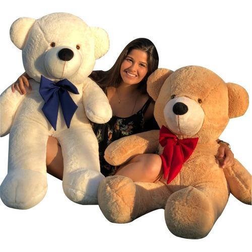 Urso Gigante Pelúcia Grande Teddy 90 Cm Doce De Leite