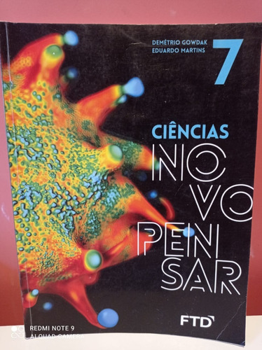 Ciências Novo Pensar - 7º Ano Perfeito Estado Adesiv Trasp