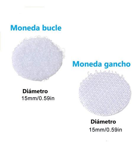 Monedas Velcro, Adhesivo Al Dorso 15mm, Paquete X 102 Pares