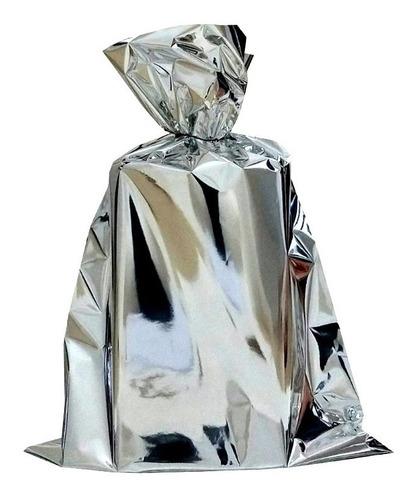 Embalagem Saco De Presente Metalizado 10x15 100 Unidades